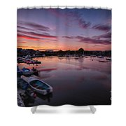Sunset Clouds In The Sea Shower Curtain