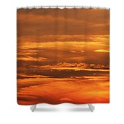 Sunset Clouds On Fire Shower Curtain
