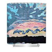 Sunset Cold Front Shower Curtain