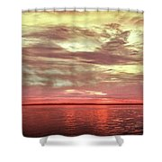Sunset Colors On The Bay Shower Curtain