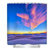 Sunset Colors Over White Sands National Shower Curtain