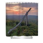 Sunset Copper Peak Shower Curtain