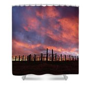Sunset Corral Shower Curtain