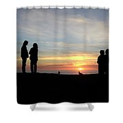 Sunset Couples Shower Curtain