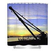 Sunset Crane Shower Curtain