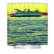 Sunset Cruise On The Ferry Shower Curtain