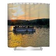 Sunset Cruising Shower Curtain