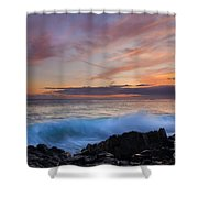 Sunset Curl Shower Curtain