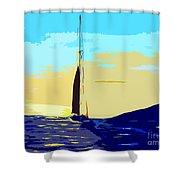 Sunset D1 Shower Curtain