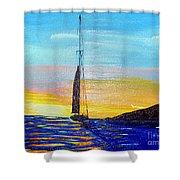 Sunset D2 Shower Curtain
