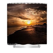 Sunset Delight  Shower Curtain by Kim Loftis