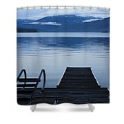 Sunset Dock At Priest Lake Shower Curtain