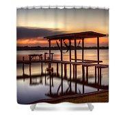 Sunset Dock Shower Curtain