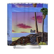 Sunset Door Shower Curtain