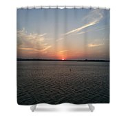 Sunset Eagle Mountain Lake Shower Curtain