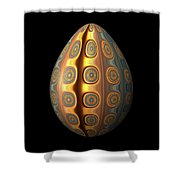 Sunset Egg With Concentric Circles Shower Curtain