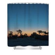 Sunset - Elephant Sands Botswana Shower Curtain