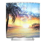 Sunset Exotics Shower Curtain