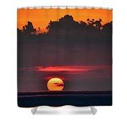 Sunset Face Shower Curtain