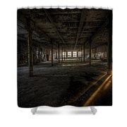 Sunset Factory Shower Curtain