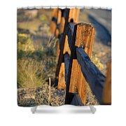 Sunset Fence Shower Curtain