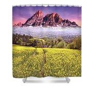 Sunset Fields Shower Curtain