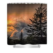 Sunset Fire Shower Curtain