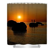 Sunset Fishing Shower Curtain