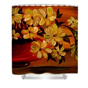 Sunset Floral Shower Curtain
