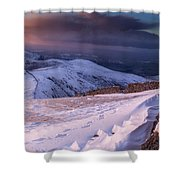 Sunset Following The Mourne Wall Shower Curtain