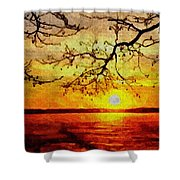 Sunset For Abigail Browne H B Shower Curtain