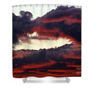 Sunset Formation Shower Curtain