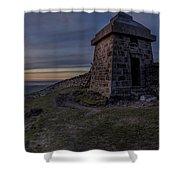 Sunset From Commedagh Shower Curtain