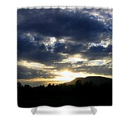 Sunset From Mcarthur Island Shower Curtain