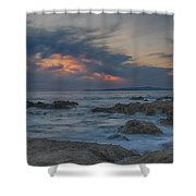 Sunset From Pacific Grove Shower Curtain