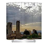 Sunset From San Gimignano Shower Curtain