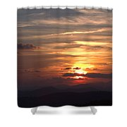 Sunset From The Blue Ridge Parkway Ll Shower Curtain