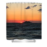 Sunset From The Ferry Shower Curtain