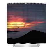 Sunset From The Observatory Shower Curtain