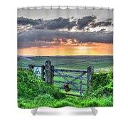 Sunset Gate Shower Curtain