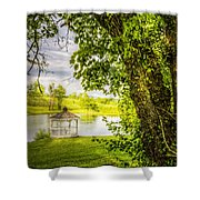 Sunset Gazebo Shower Curtain