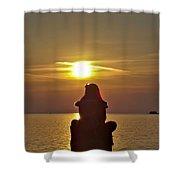 Sunset Girl Shower Curtain