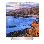 Sunset Glow Along Pacific Coast Shower Curtain