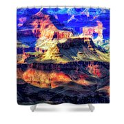Sunset Glow At Mather Point Shower Curtain