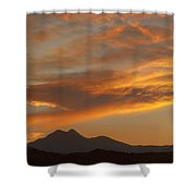 Sunset Glow Over The Twin Peaks Shower Curtain