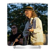 Sunset Glow With Cool Music Shower Curtain