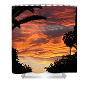 Sunset God's Fingers In Clouds  Shower Curtain