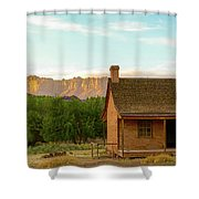 Sunset Grafton Ghost Town Shower Curtain