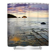 Sunset Grid Shower Curtain