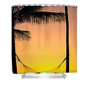 Sunset Hammock Shower Curtain